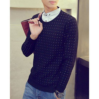Type:+Pullovers+ Material:+Cotton+Blends+ Sleeve+Length:+Full+ Collar:+Turn-down+Collar+ Technics:+Computer+Knitted+ Style:+Fashion+ Weight:+0.592KG+ Package+Contents:+1+x+Sweater  Our+SizeBustLengthShoulder+WidthSleeve+Length M96674259 L100684361 XL104694463 2XL108...
