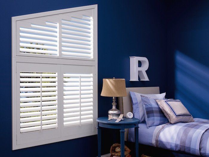 Angled Bedroom Shutters by Superior Blinds in Litchfield Park, AZ