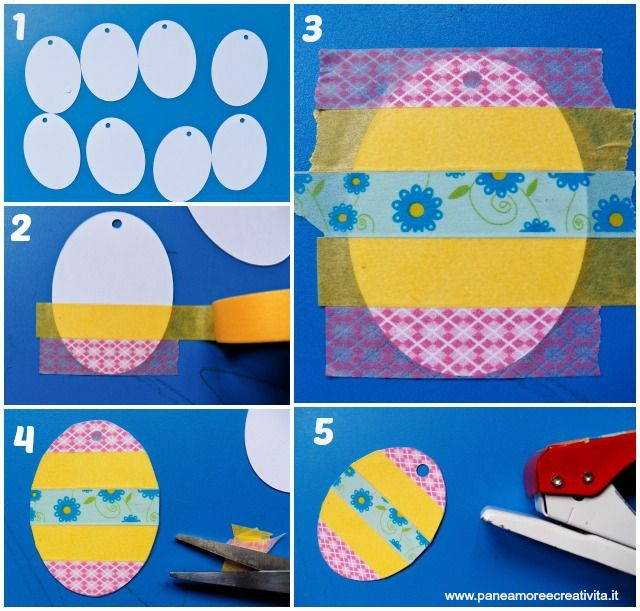 uova di pasqua con washi tape-tutorial