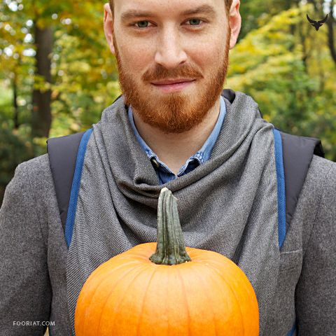 Halloween RedHead sporting grey Warmour™