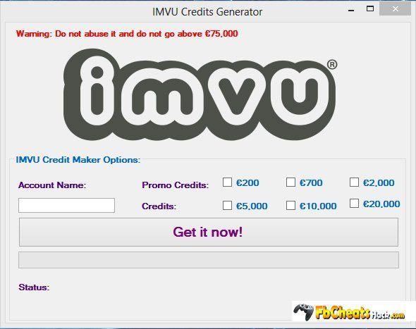 Imvu free credits hack online