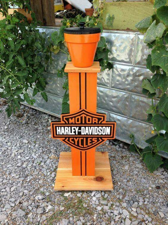 Handmade Harley Davidson cigarette butt can