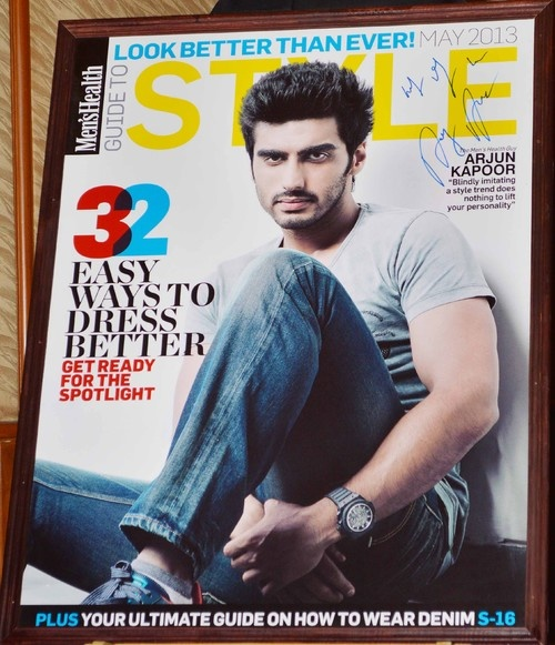 Arjun Kapoor Launches Men's Health Magazine, India Edition, May 2013 Issue