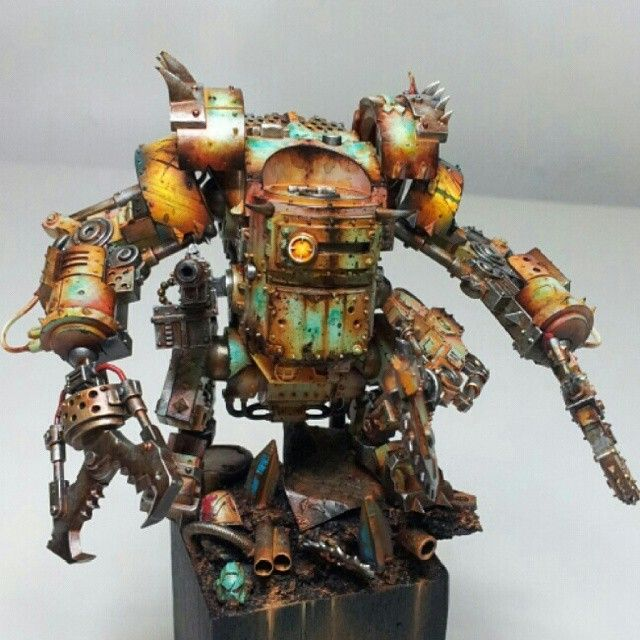 #warhammer#ork#40k#paintings#arts#commissionpainting#robots#gbwc
