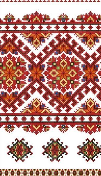 Ukrainian rushnyk , from Iryna                        Pisanki inspiration