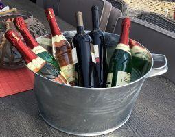 Zinkwanne Wanne Flaschenkühler Weinkühler