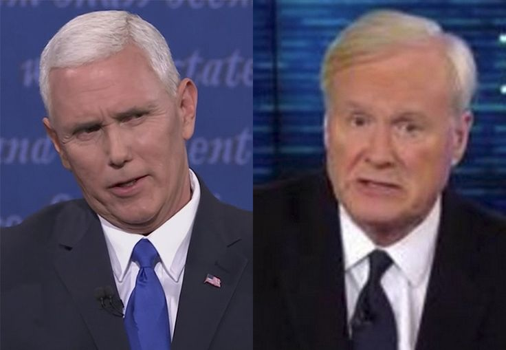 Liberal MSNBC host Chris Matthews dubbed Republican Mike Pence the winner of the election's only vice presidential debate.