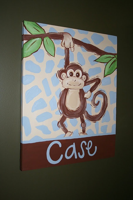 Cute Monkey Painting