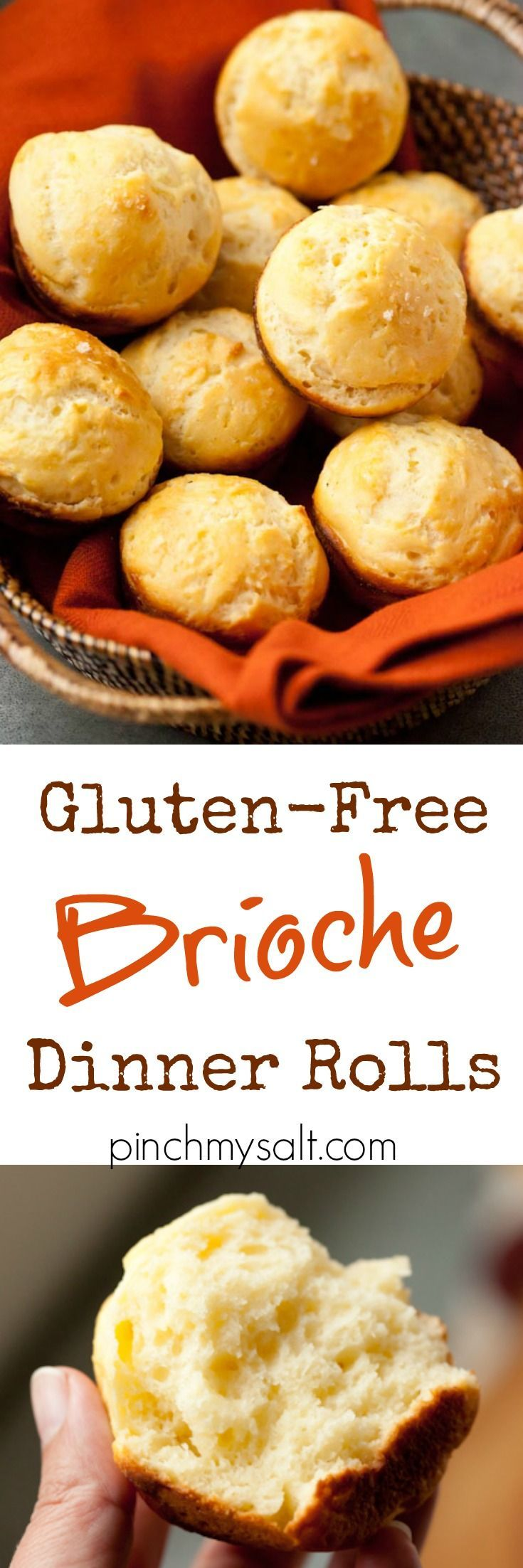 These gluten-free brioche dinner rolls are absolutely perfect for your next special occasion or holiday dinner. They would be a wonderful accompaniment to your Thanksgiving meal and can also be cut up to make a fabulous gluten-free stuffing or dressing.   pinchmysalt.com