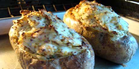 Smoked Salmon Stuffed Potatoes