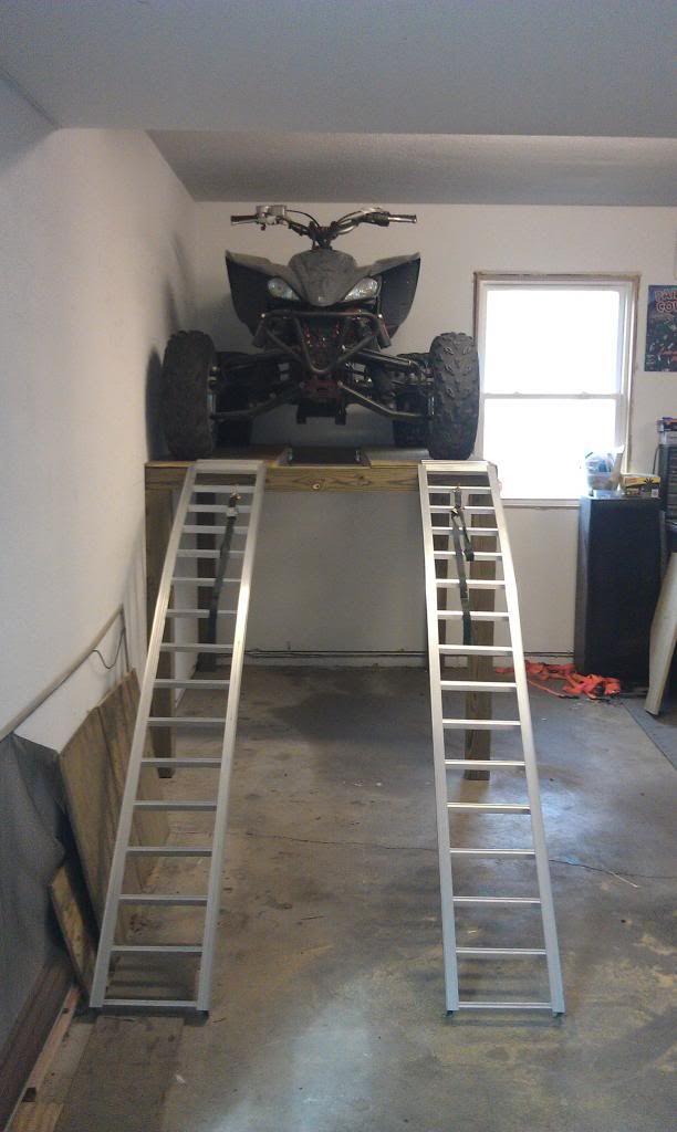 ATV Shelf - Storage - Space issue solved (PICS!) - Yamaha Raptor Forum