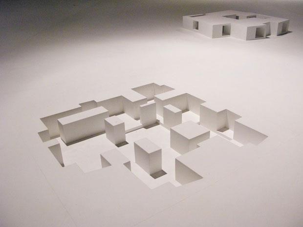Venice Architecture Biennale 2010 Negatives models by Aires Mateus