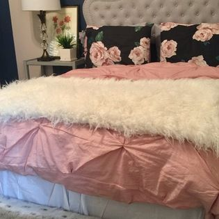 College Girl Navy and Blush Bedroom