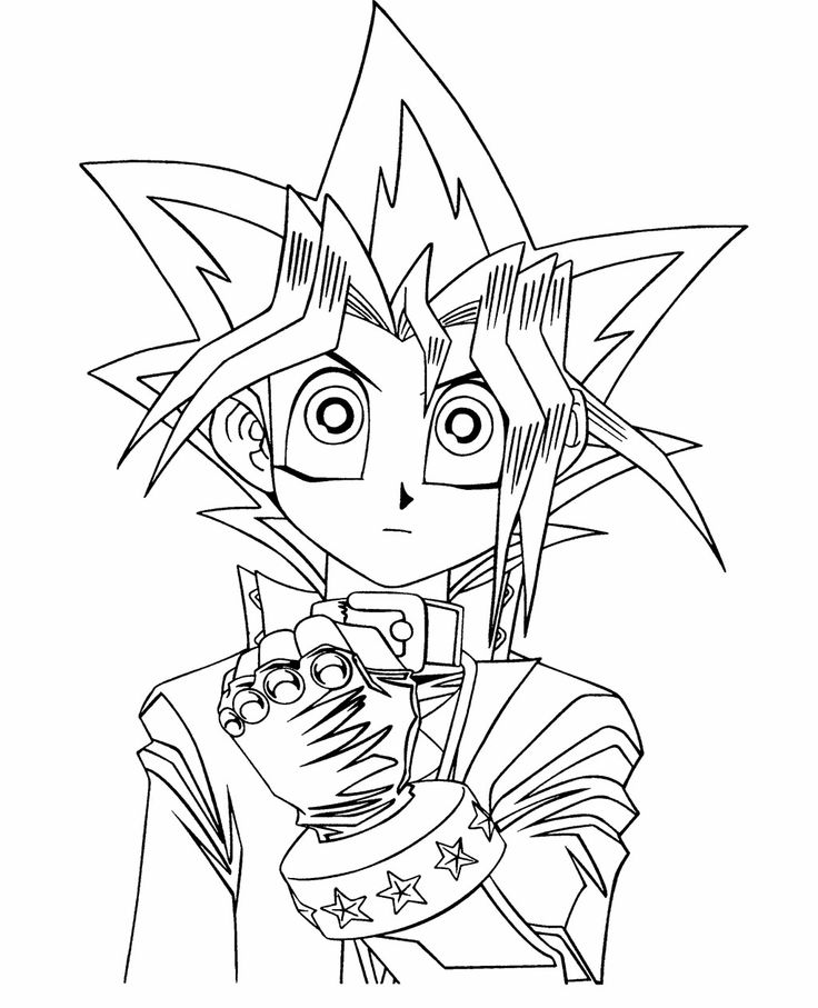 Yugi Muto Coloring Page Coloring Pages For Kids Cartoon