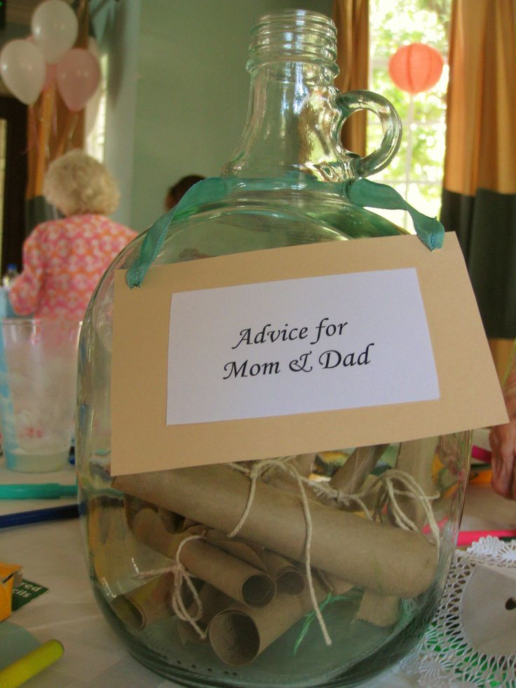 Beach Baby Shower - Message in a Bottle - Advice for Mom and Dad