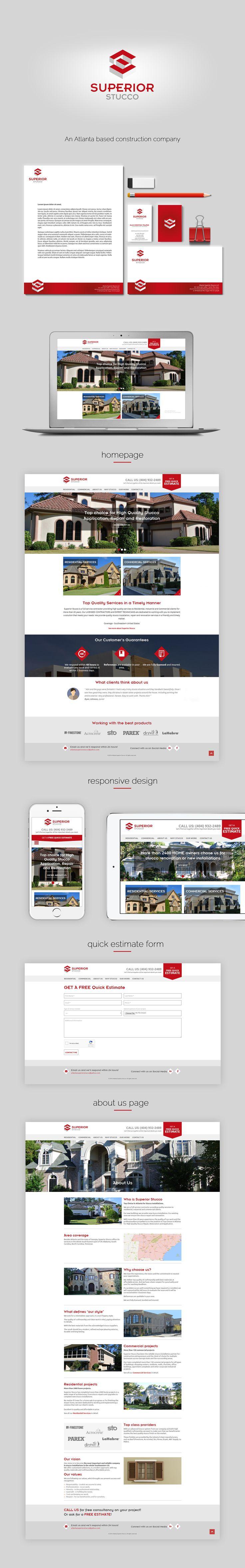Superior Stucco branding and webdesign
