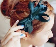 i love bowsHair Ideas, Hairbows, Bows Headbands, Hairstyles, Red Hair, Colors, Blue Hair, Hair Bows, Hair Accessories