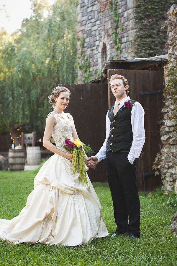 Medieval Wedding | Modern Day Medieval Wedding Featuring Peacocks, Jugglers, & Thrones