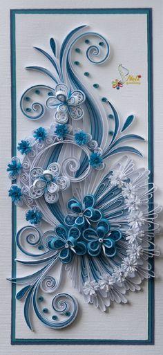 Neli Quilling Art: Quilling card - flowers ( 9.5 cm - 20 cm )