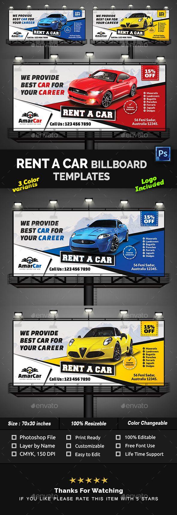 Rent A Car Billboard Templates Billboard Car Advertising Design Rent A Car