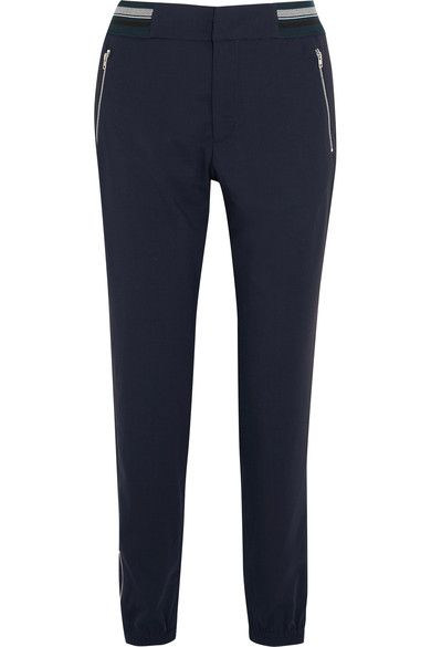 Tim Coppens - Lux Jogger Stretch-wool Tapered Pants - Midnight blue - x small