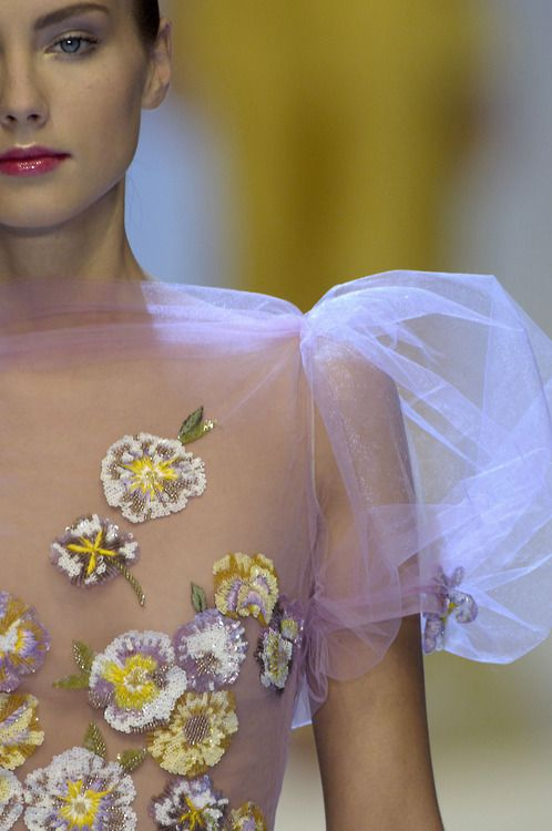 Alexander McQueen, sheer floral perfection