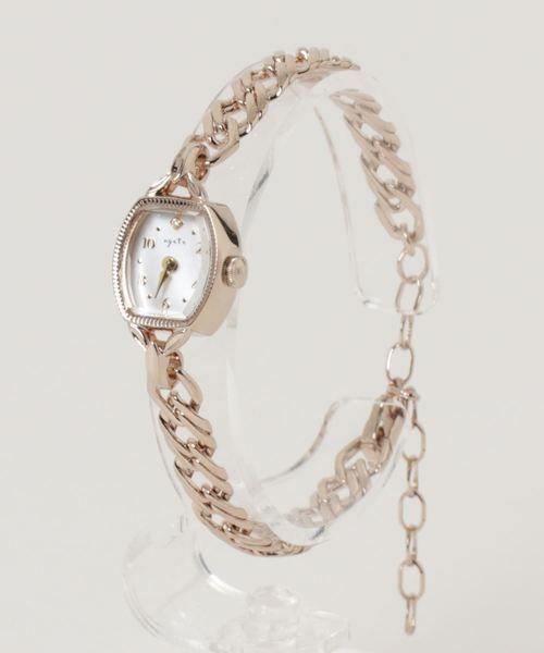 19f194cd7d トノーフェイスジュエリーウォッチ 【AGETE.52YG時計】|腕時計|agete(アガット