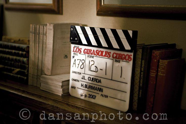 Filming 'Los Girasoles Ciegos' directed by José Luis Cuerda. Reportage for El País Semanal.