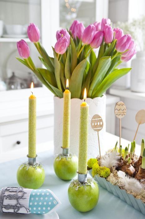 Świeczki w jabłkach