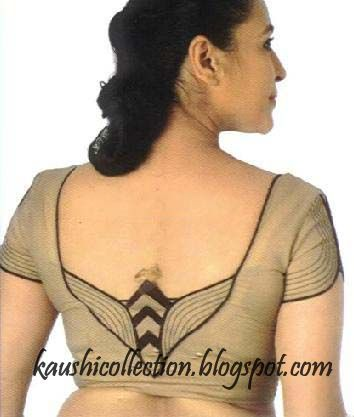 Sparkling Fashion: blouse neck designs