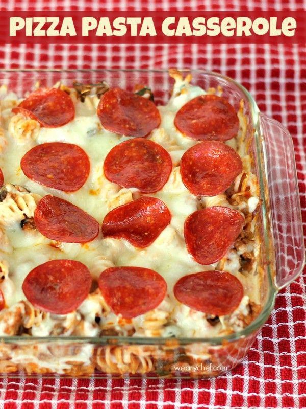 This easy Pizza Pasta Casserole combines all the best of two favorites in one dish!