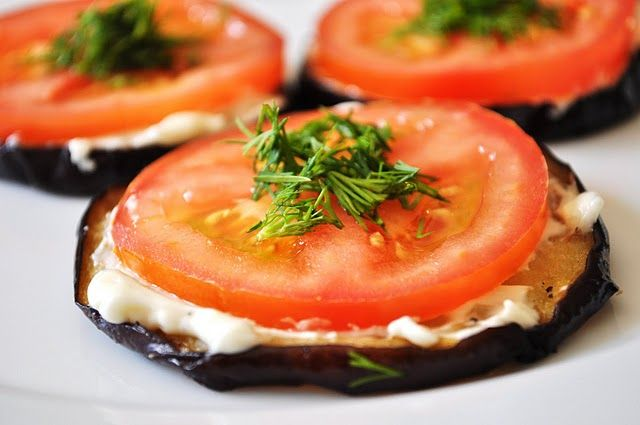 Russian eggplant appetizers (can do with zucchini too!)