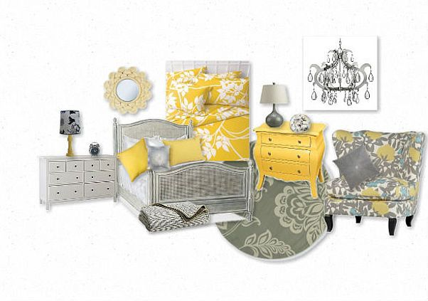 Love the grey and yellow bedroom or even for a baby room!!