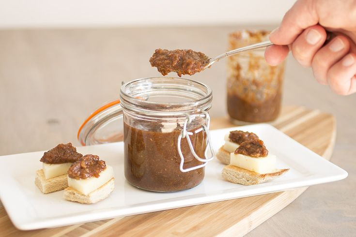 Slow Cooker Bacon Jam - So Delicious with Cheese and Crostinis.