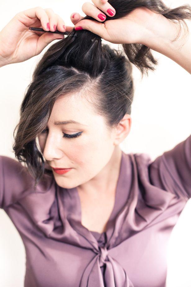 Breakfast at Tiffany's Hair Tutorial: Audrey Hepburn Bride ...