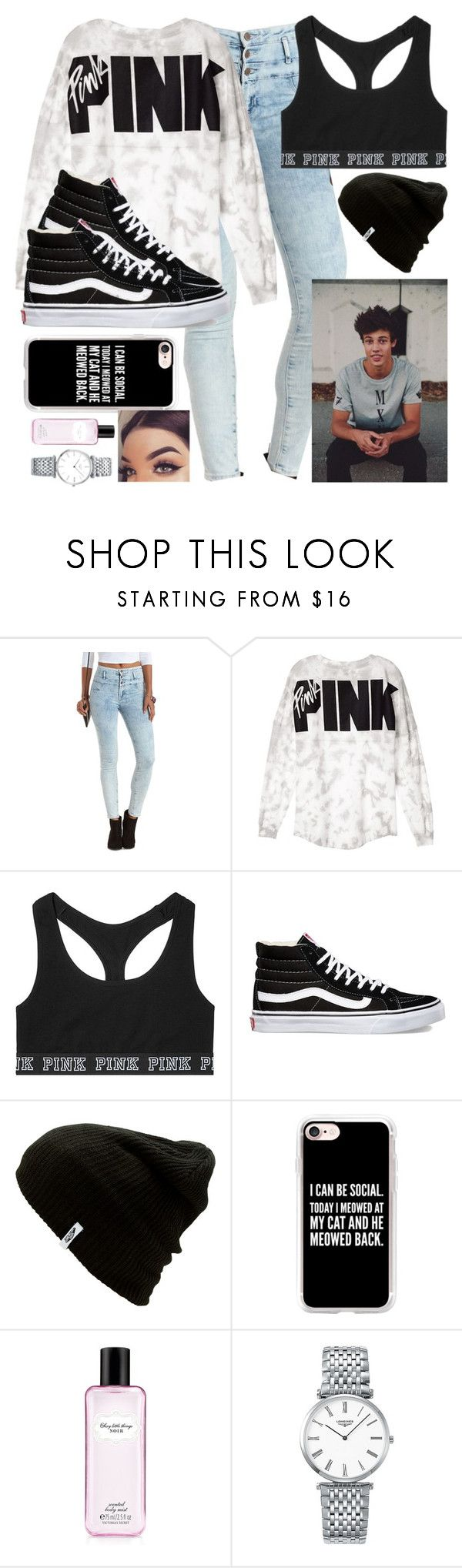 """""""Hanging with Cameron Dallas"""" by malrocks2003 ❤ liked on Polyvore featuring Refuge, Victoria's Secret, Vans, Casetify and Longines"""