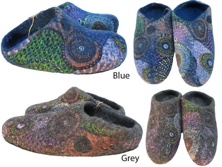 Hippy Felt Wool Multicolored Handmade Home Indoor Warm Slippers Shoes Nepalese