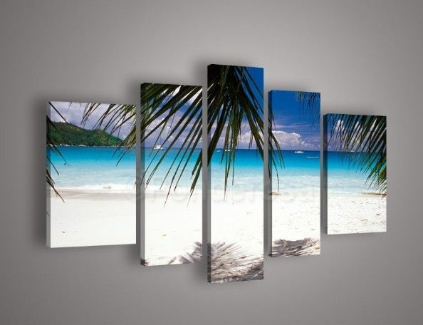 Sunny Beach beauty - Direct Art Australia,   Shipping: Free Shipping,  Size of Parts: 30cm x 50cm x 2 panels + 25cm x 70cm x 2 panels + 25cm x 80cm x panel,  Total Size (W x H): 135cm x 80cm,  Delivery: 14 - 21 Days,  Framing: Framed & Ready to Hang!  100% Money back guarantee.  http://www.directartaustralia.com.au/