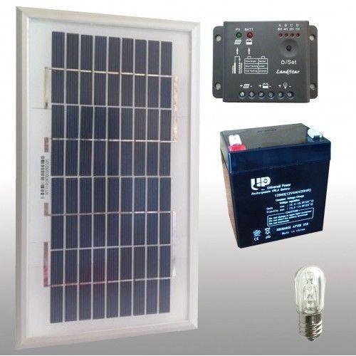 Kit votivo con pannello solare 5w + led+ batterie