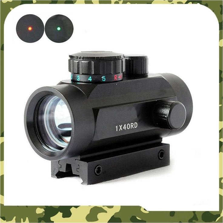 [Visit to Buy] 1X40 Tactical Holographic Red Green Dot Rifle scope Sight For 11mm 20mm Picatinny Mount Optical Sight Scope Red Dot Scope #Advertisement