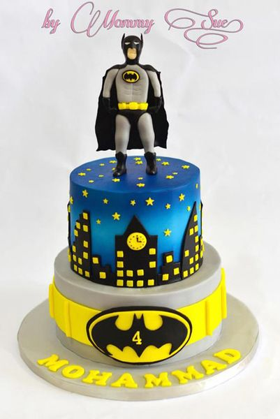 Batman Theme Theme Cake Superhero Birthday Cake