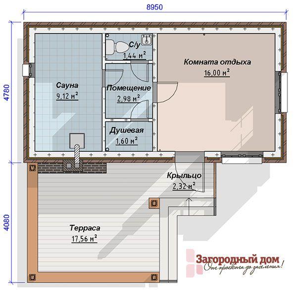 Проект кирпичной бани Сестрорецк - наши услуги и стоимость, описание проекта