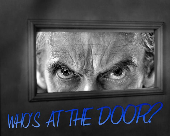Who's at the door? You KNOW Who! Come see my latest work!
