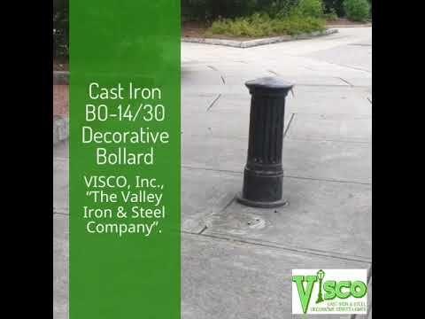 "Decorative Cast Iron Bollards BO-14/30  ||  VISCO, ""The Valley Iron & Steel Company "" https://www.youtube.com/watch?v=y39DS1iWWVU"