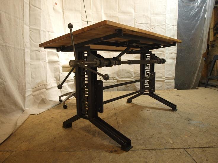 Best 25 industrial drafting tables ideas on pinterest vintage french industrial drafting table desk 239000 via etsy malvernweather Gallery