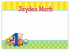BabyFirstTV TV Favorites Personalized Note Cards