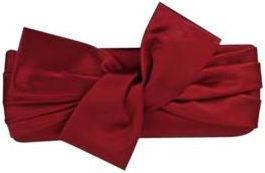 Borsetta rossa scamosciatta di #Valentino.