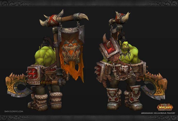 Daniel Orive - Character Artist: World of Warcraft Fan Art - Grommash Hellscream