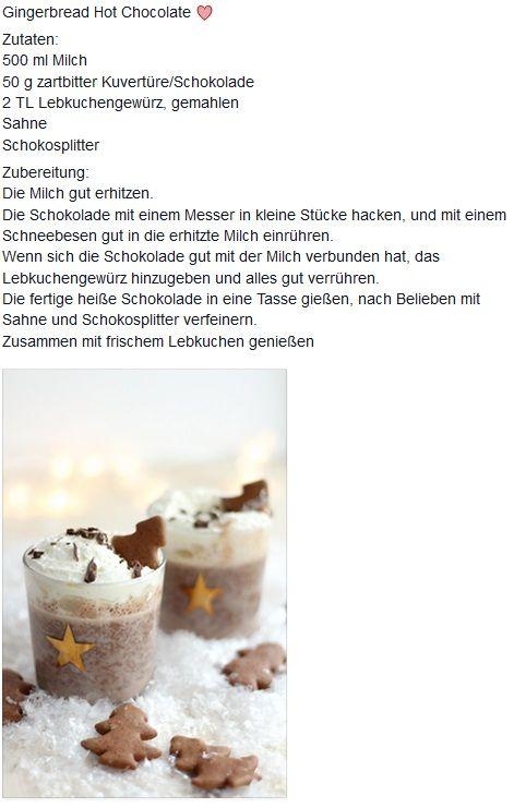 Heiße Lebkuchen-Schokolade