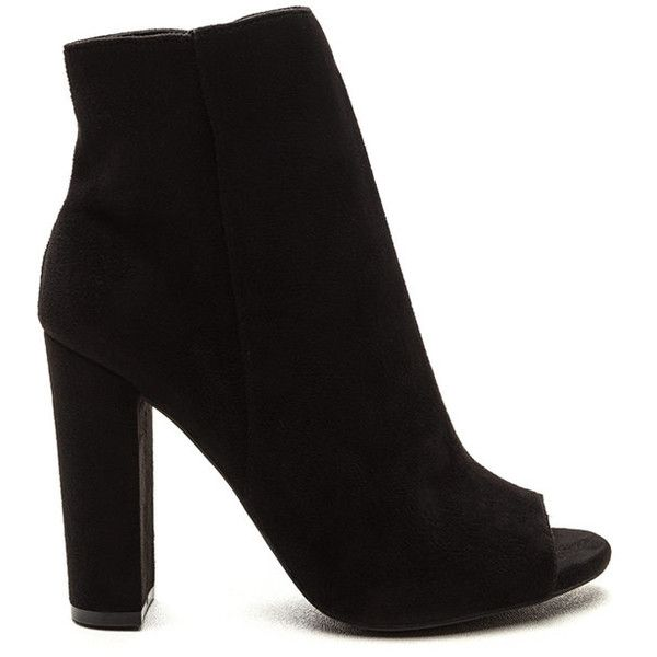Celeb Status Minimal Bootie Heels BLACK ($27) ❤ liked on Polyvore featuring shoes, boots, ankle booties, heels, ankle boots, black, black booties, black ankle bootie, black boots and black heel booties